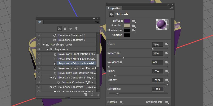 Elegant 3D Text Effect Photoshop tutorial