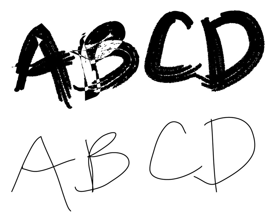 Thicker brushes in Illustrator will have overlap issues - Quick Tip: Instant Digital Hand Lettering in Illustrator on Medialoot.com