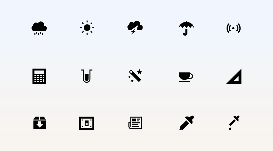 vector application icons designed in adobe illustrator