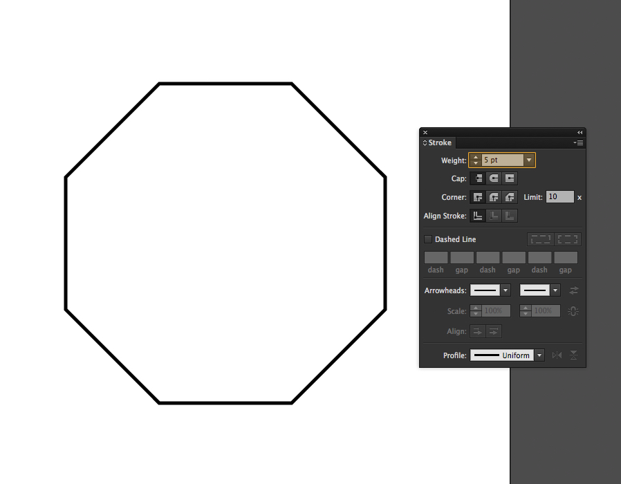 How To Draw Octagon In Illustrator
