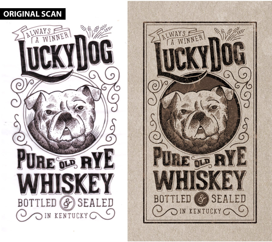 how to create a hand lettered hand drawn label design