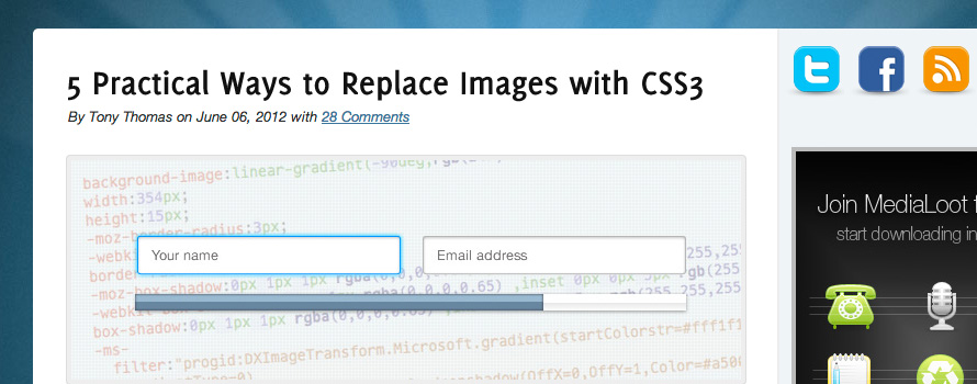 5 Practical Ways to Replace Images with CSS3