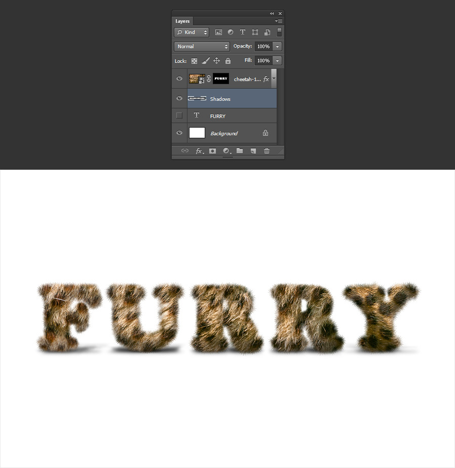 How to Create Furry Text in Photoshop - WeGraphics