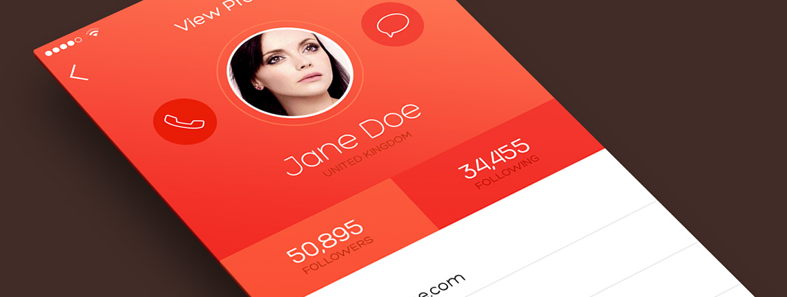 How to Design an iOS 7 inspired iPhone App Screen