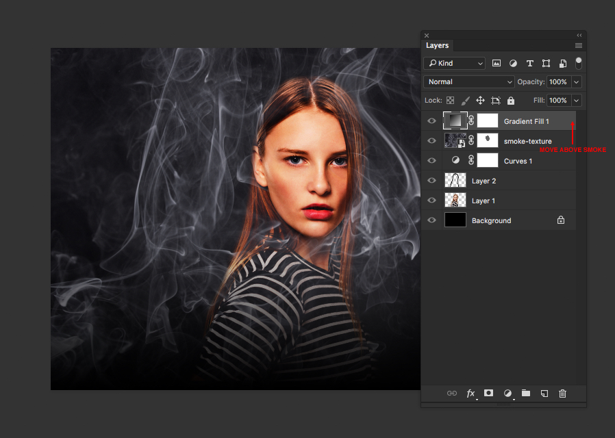 create a dark atmospheric portrait in photoshop