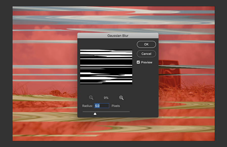 How to Create a VHS Distortion Image Effect with Photoshop
