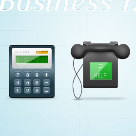 Business icons pack, 128×128 pixels