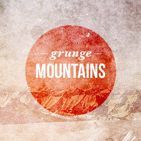 Grunge and Retro Mountains