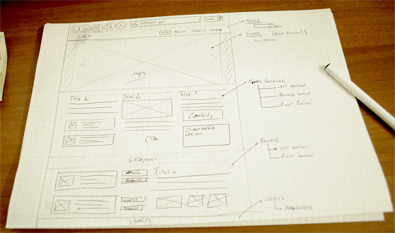 Designing an highly-professional website, from the sketch to the code