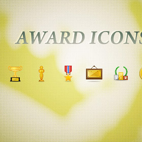 Award icon set