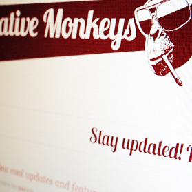 Creative Monkeys, an unique portfolio template