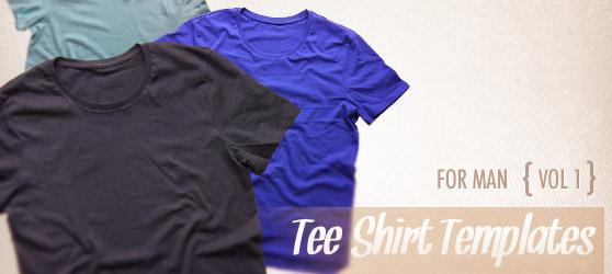 Men Tee Shirt Templates Vol1