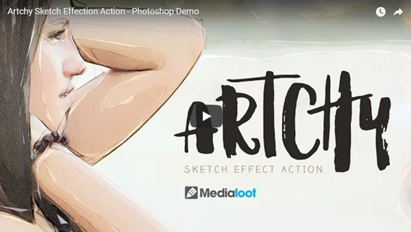Artchy sketch effect action demo video