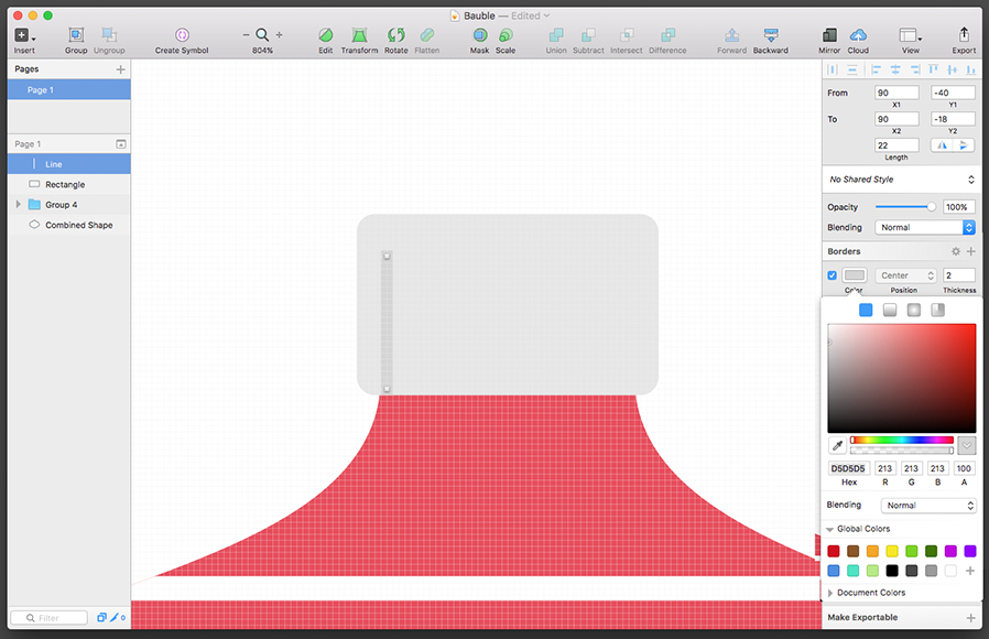 create a bauble in sketch