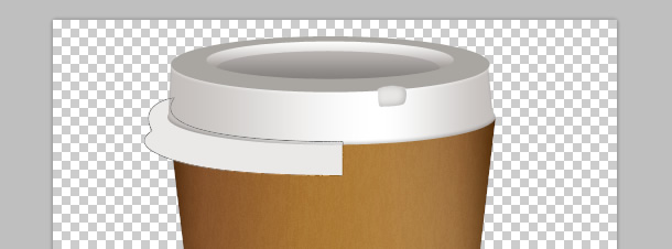 how to design a realistic takeout coffee cup