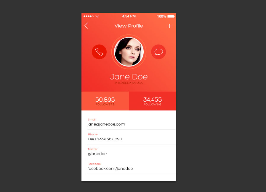 How to design an ios 7 inspired iphone app screen medialoot for How to design an iphone app