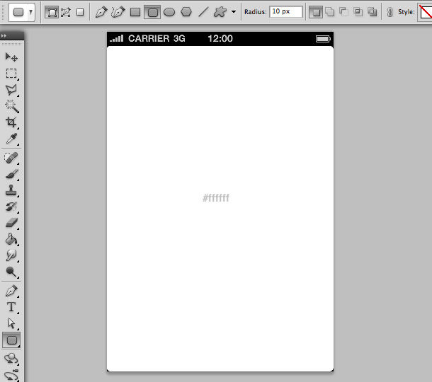 design an iphone app in photoshop