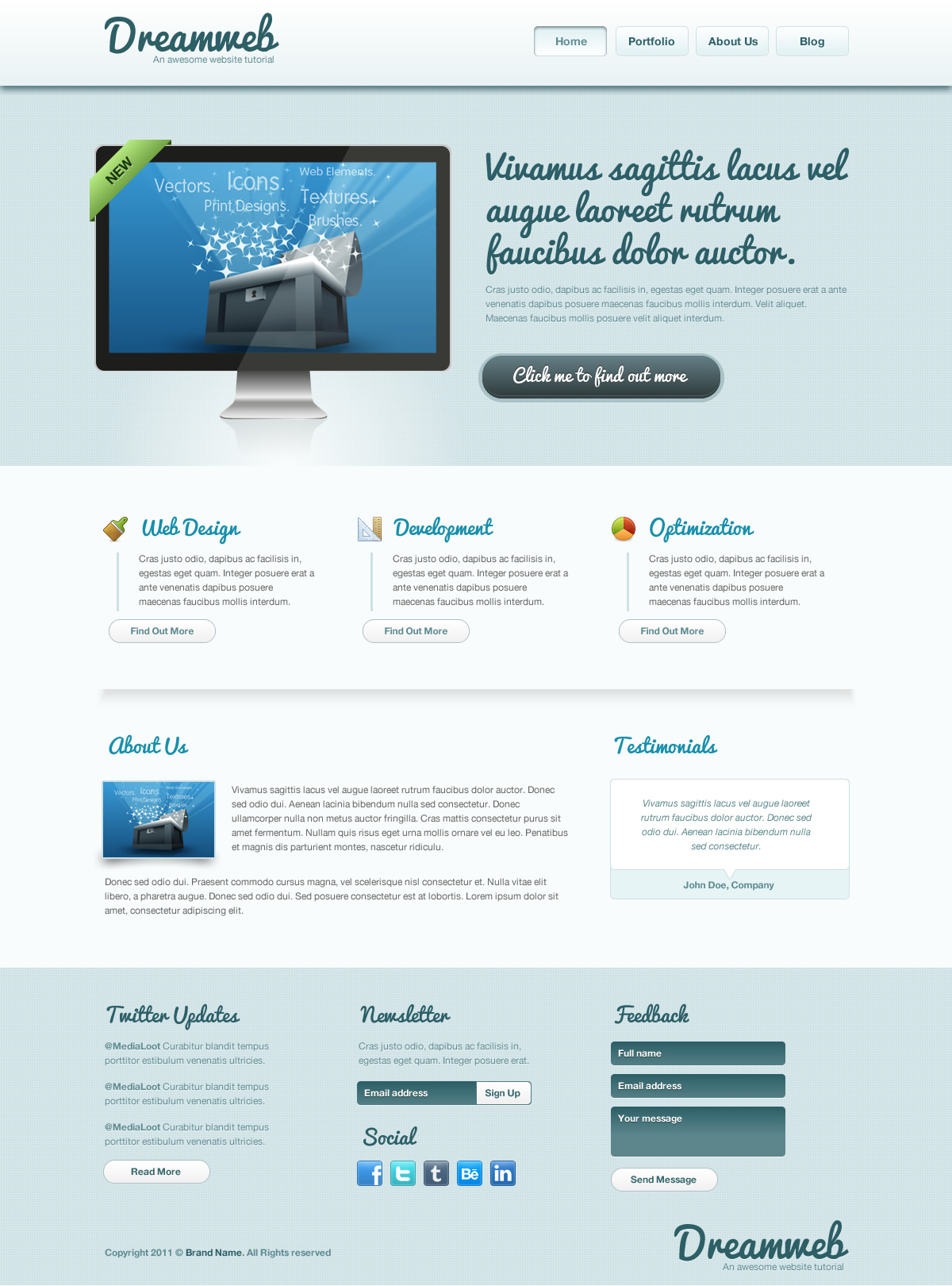 How to design a clean website template from scratch in An website
