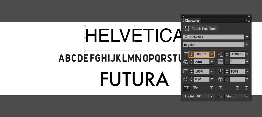 how to turn vector letterforms into a font