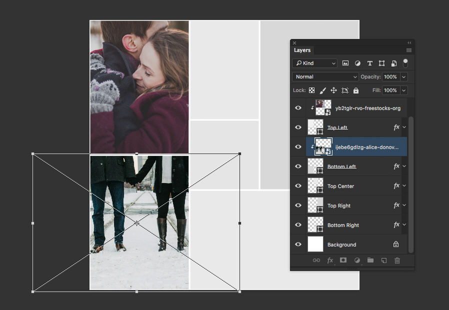 create a custom collage for instagram with photoshop