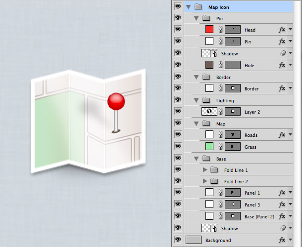 vector map icon photoshop