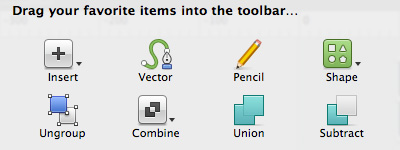customize sketch app toolbar