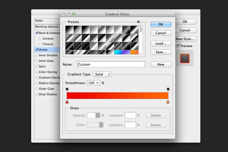 orange text effect photoshop layerstyles