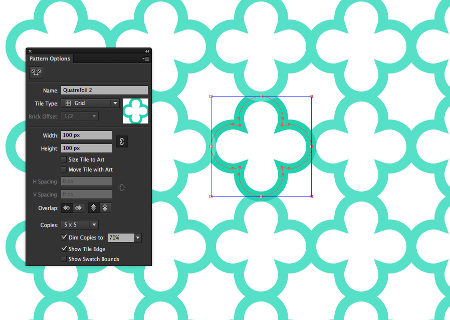 Create a Seamless Vector Quatrefoil Pattern in Illustrator