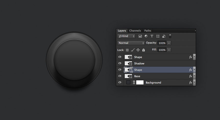 the knob is really starting to take shape now for the audio knob photoshop tutorial
