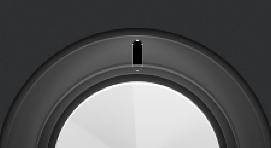 draw a solid black rounded rectangle for the audio knob photoshop tutorial
