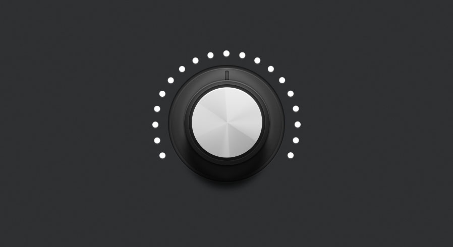 duplicate the lights layer for on lights for the audio knob photoshop tutorial