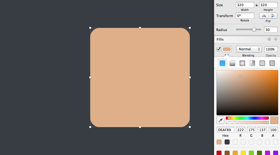create an icon using sketch app