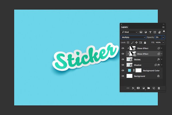 Free Download] How to Create a Sticker Mockup with Photoshop