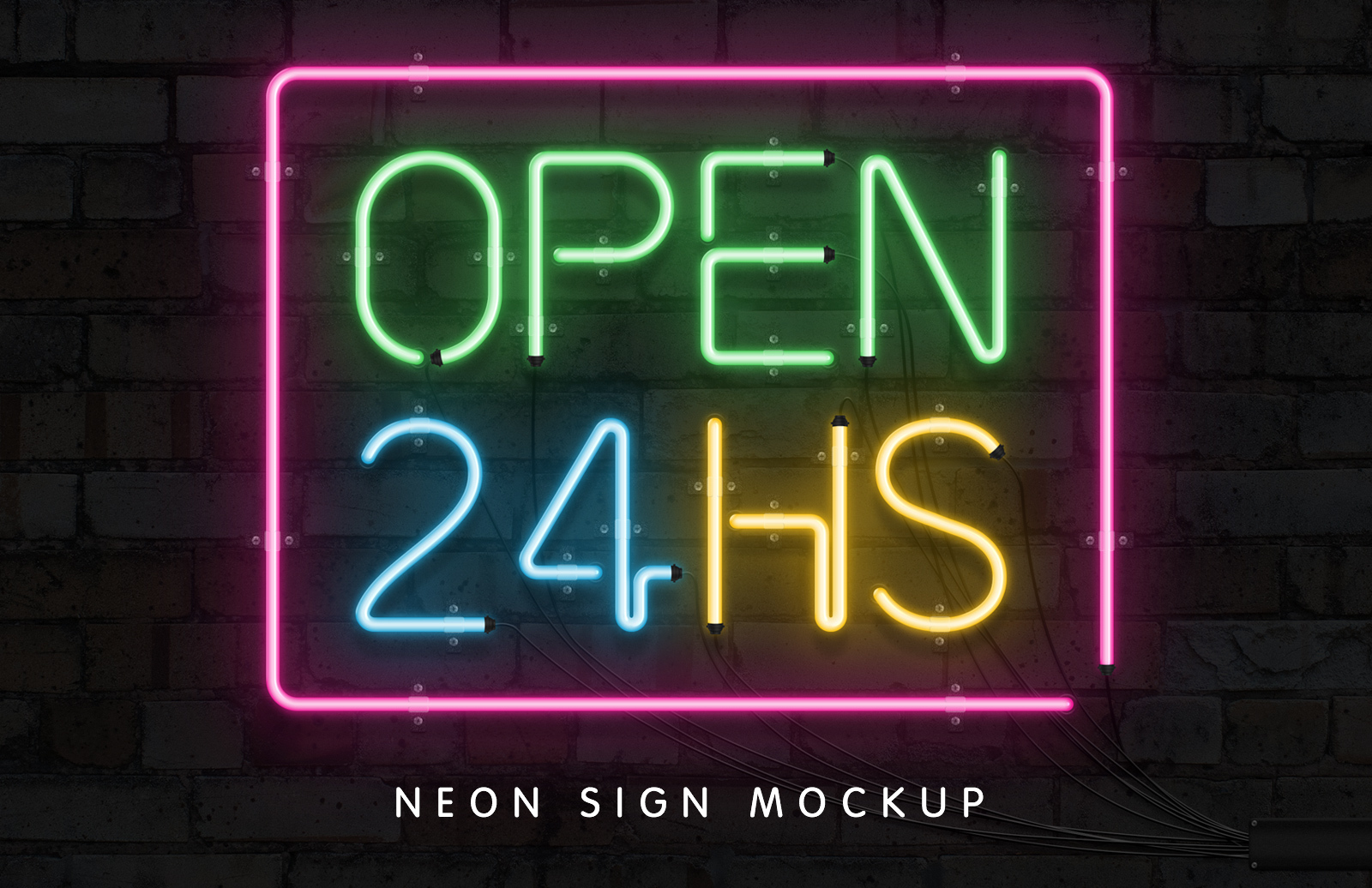 Neon font effect collection medialoot neon sign mockup thecheapjerseys