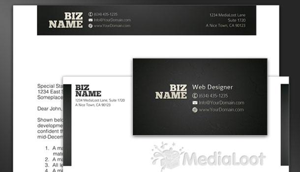 Two Free Corporate Identity Sets (Basic Style & Ultra-Minimal)